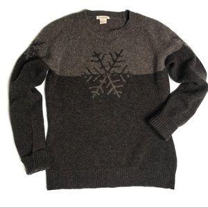 Sundance Lambswool Colorblock Snowflake Sweater